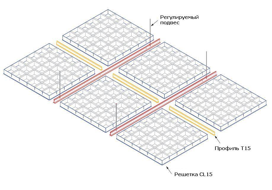 Подробная схема монтажа